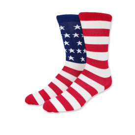 Men's, USA Flag Puzzle Sock in Bamboo - One Pair