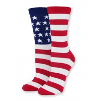 Women's, USA Flag Puzzle Sock in Bamboo - One Pair